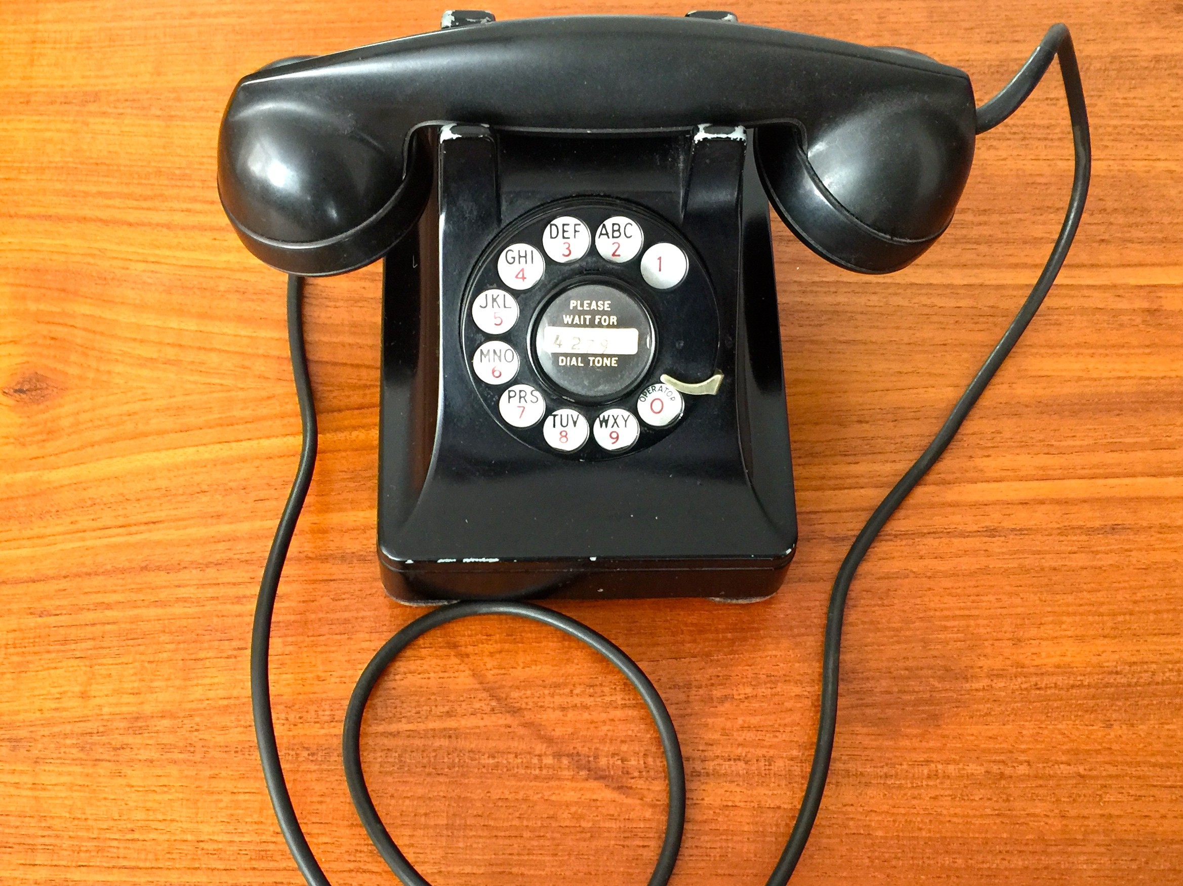 Bell System Western Electric Model 302 dial telephone, ca. 1936