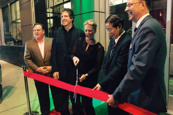 Ribbon cutting at the hotel's grand opening celebration