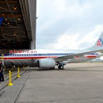 A Boeing 737 in American Airlines old livery and a Boeing 787 Dreamliner