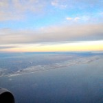 View from an Airbus A320 in flight