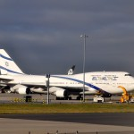 An El Al 747 at JFK.  El Al's first international flight was July 3, 1949