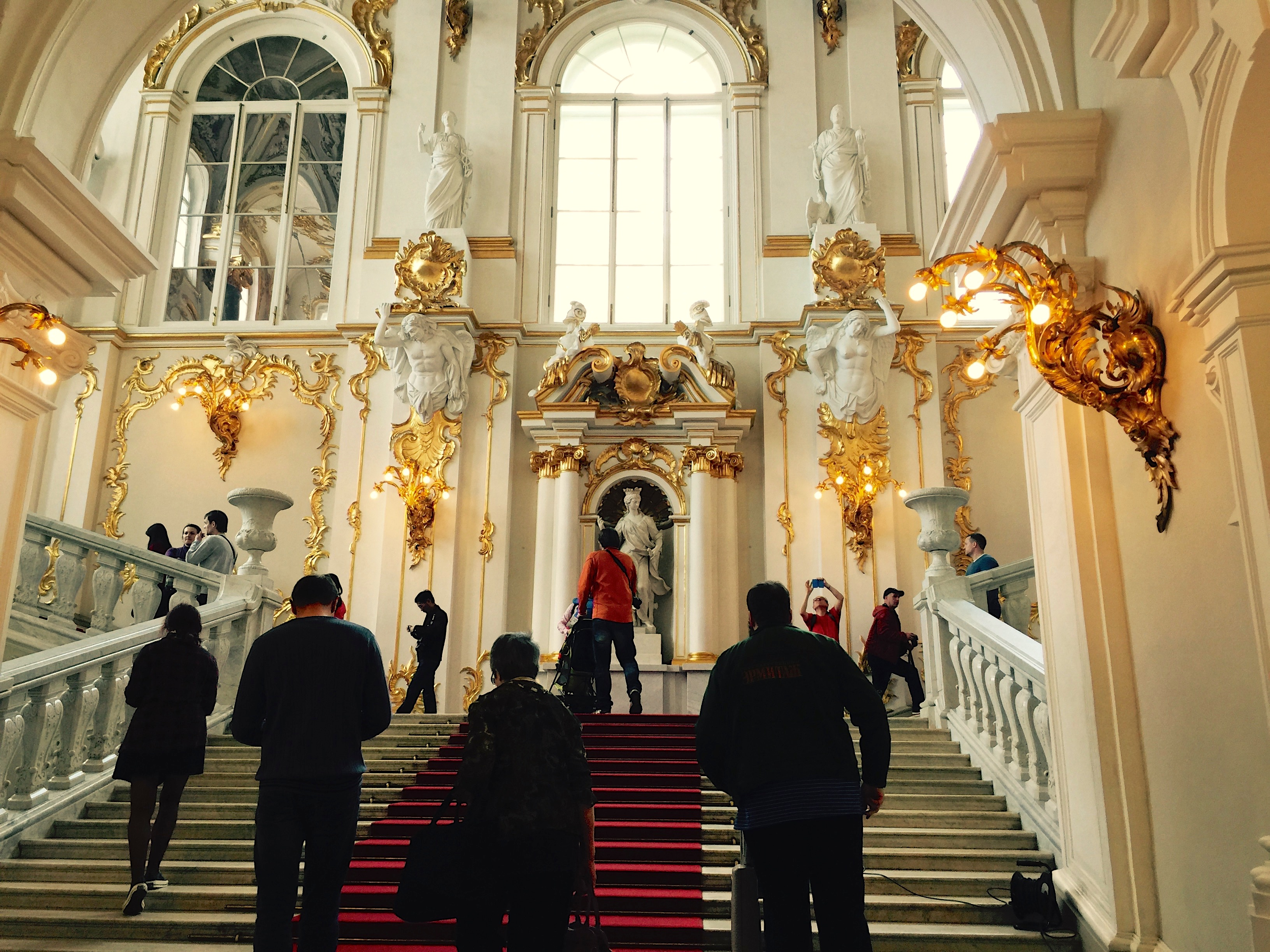 Visitors at the Hermitage Museum