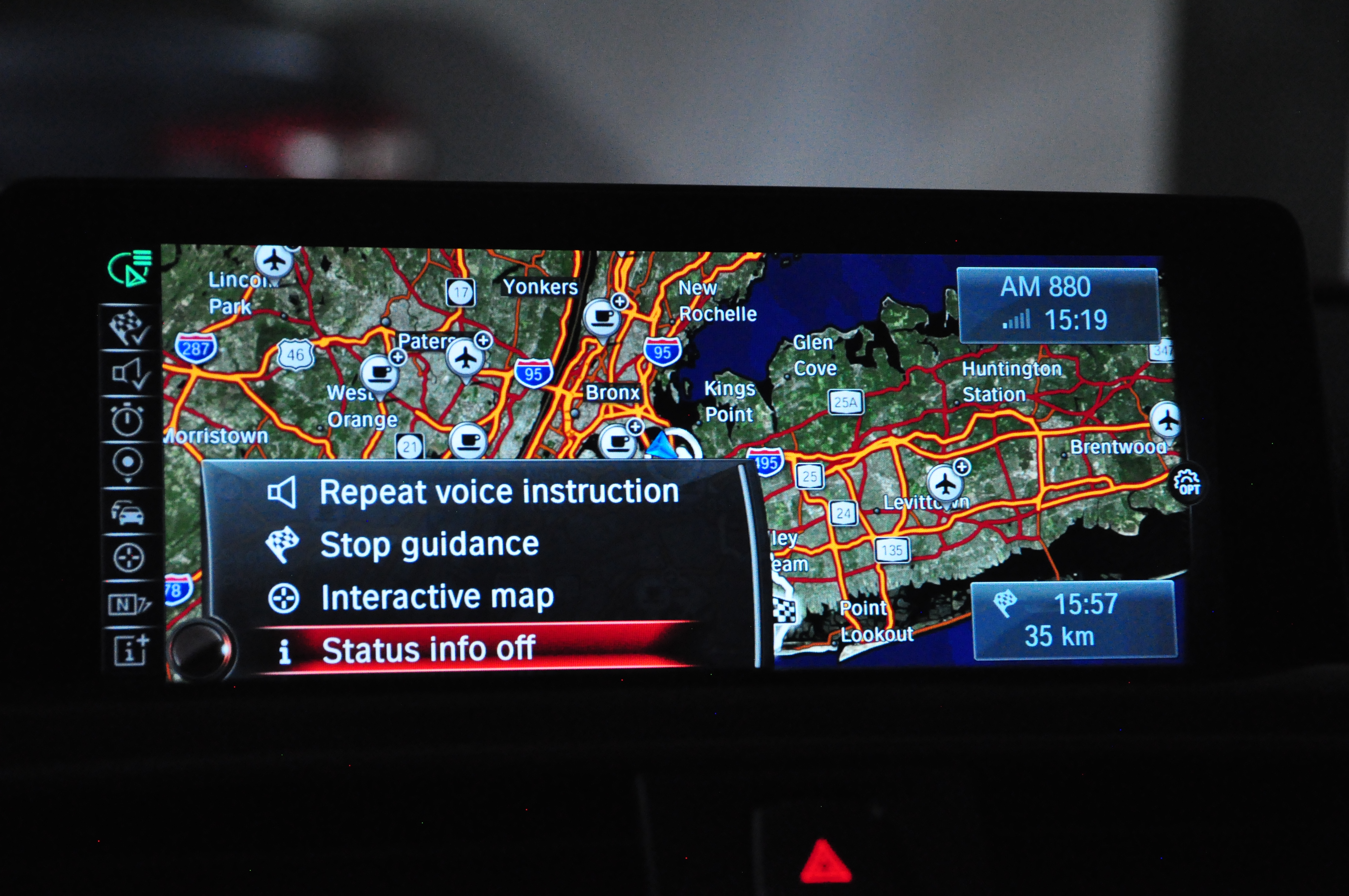 The app will automatically start the car's navigation with the desired destination.