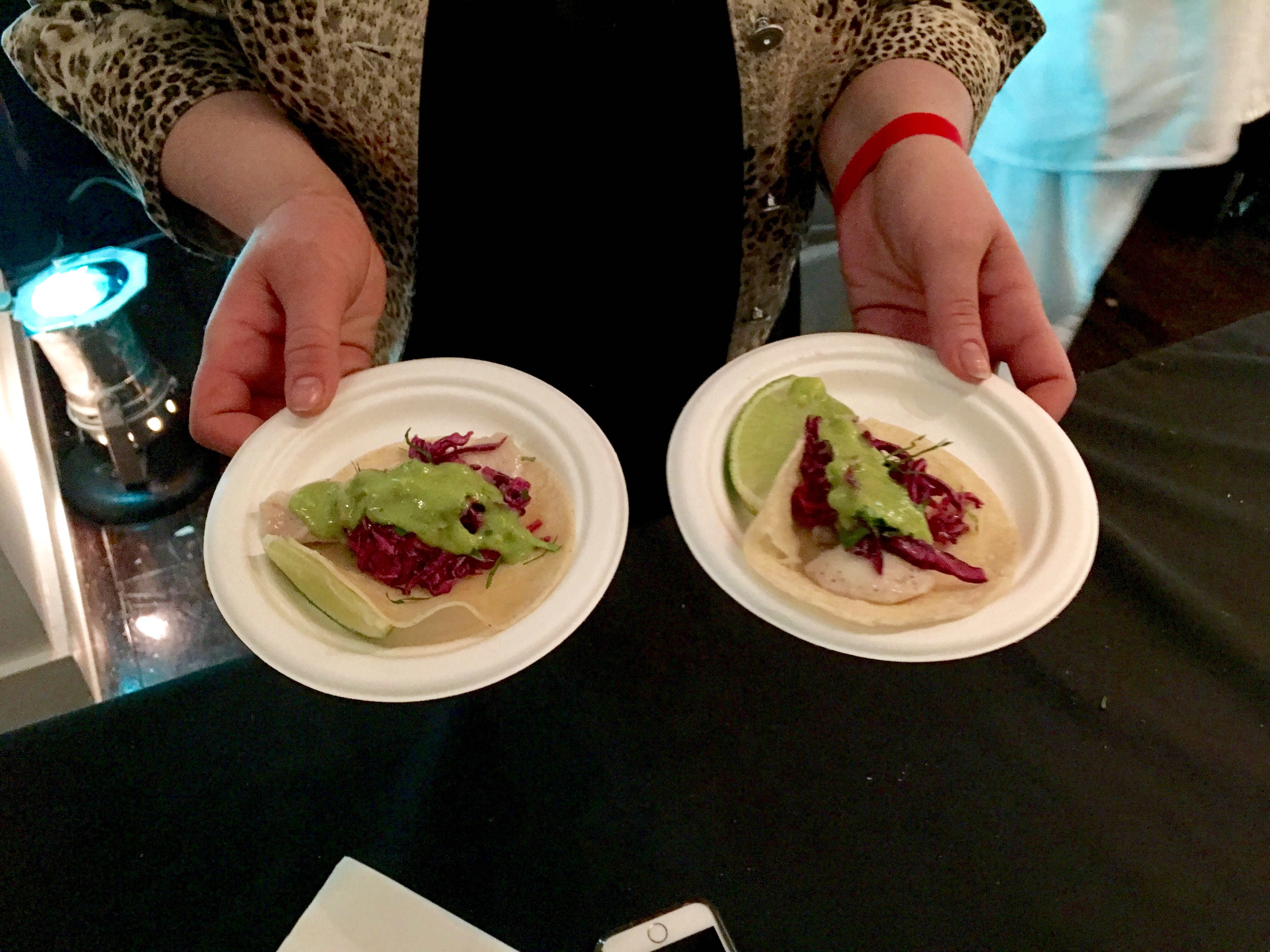 Fish tacos from Belle Reve