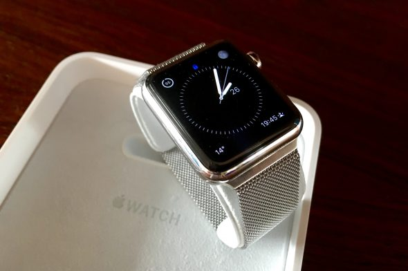 Apple Watch with Milanese Loop Watch Band