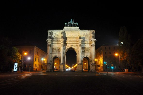 The Siegestor in Munich.