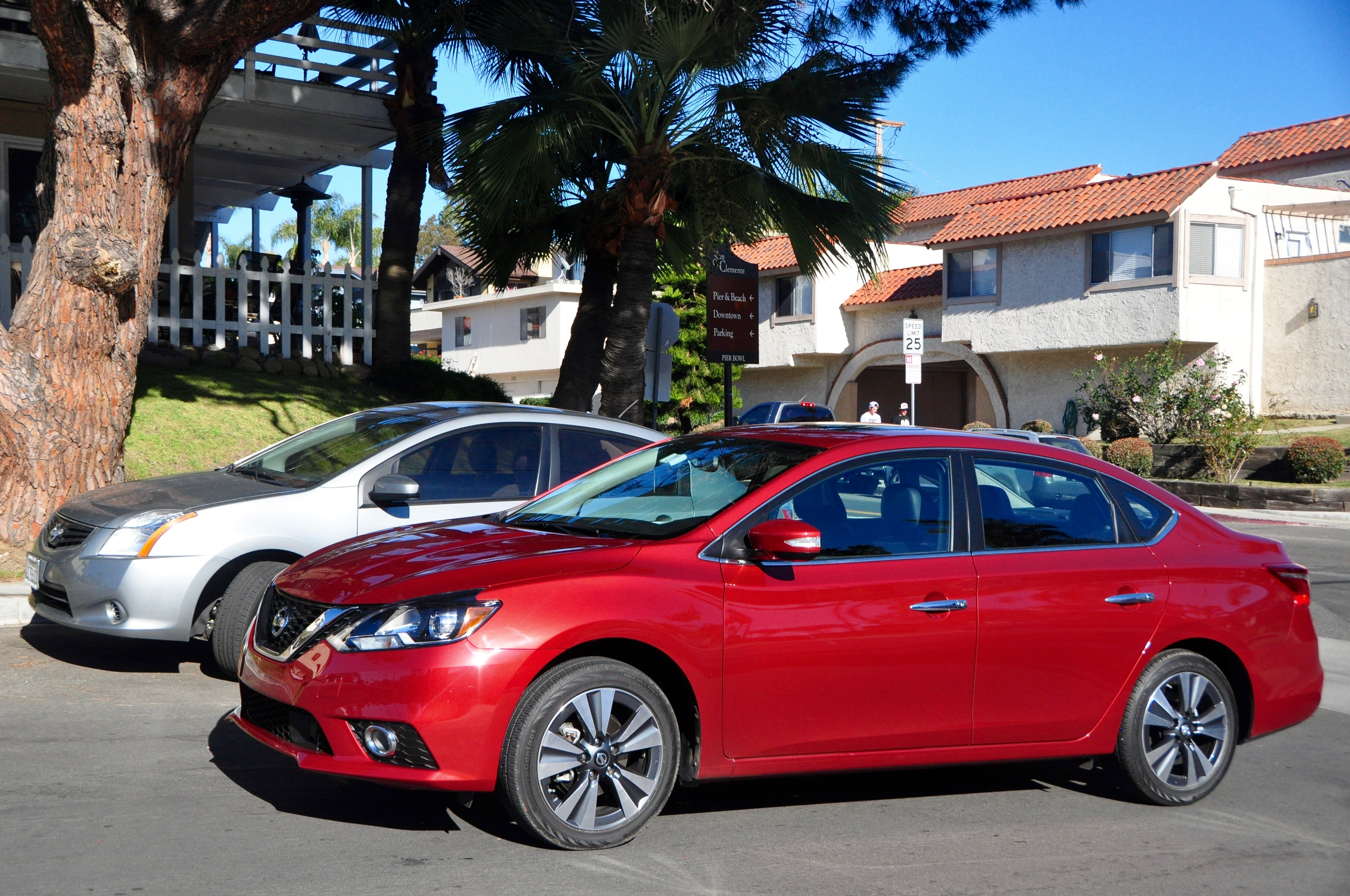 Nissan Sentras old and new (foreground)