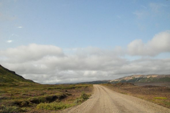 One of Iceland's many gravel roads