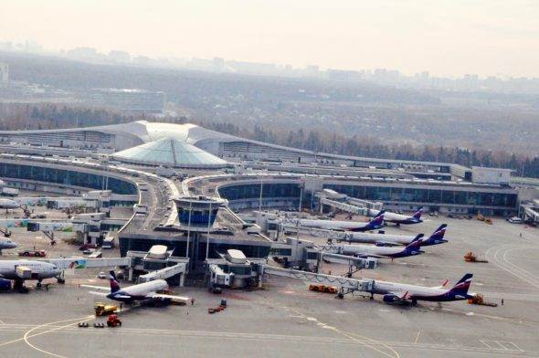 Sheremetyevo International  Airport in Moscow